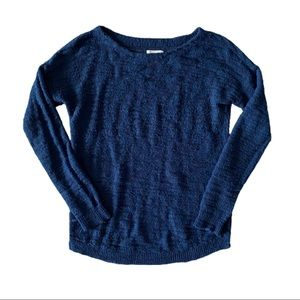 Lou & Grey Navy Wool Mohair Blend Sweater